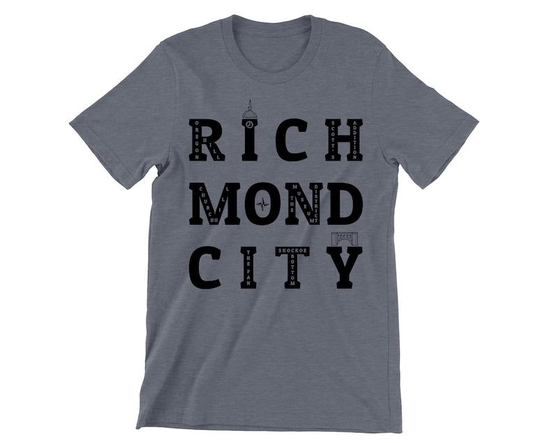 Richmond City Neighborhoods T-shirt image 0