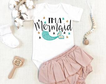 I/'m really a Mermaid Mermaid Onesies\u00ae Funny Baby Onesies\u00ae Baby Bodysuit or T-shirt Unisex Custom Shower gift Kawaii Cute Baby Onesies\u00ae
