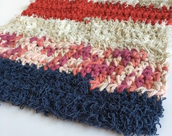 Scrubby Dishcloth, Eco-Friendly, Cotton, Reusable, Washcloth, Handmade, Crochet, Housewarming, Cleaning Supplies, Gifts for Her, Self Care