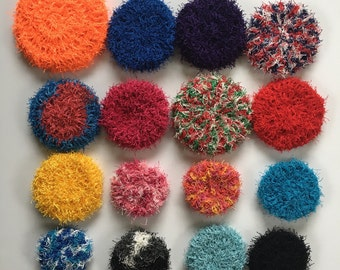 Dish Scrubby, ECOFRIENDLY, Double Sided, Pot Scrubber, Reusable, Spring Cleaning, Nonstick Pan Scrubber, Veggie Scrubby,