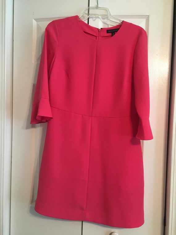Peach Flared Sleeve dress