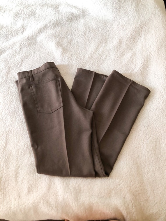 Vintage 60s 70s Brown Polyester Levi's Pants