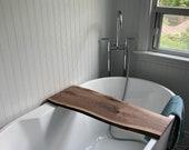 Custom Live Edge Bathtub Tray