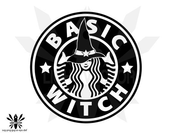 Starbucks Witch Silhouette Instant Download Etsy