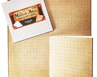 The Master's Atlas: Adventures Blank/Parchment Tabletop RPG Game Board