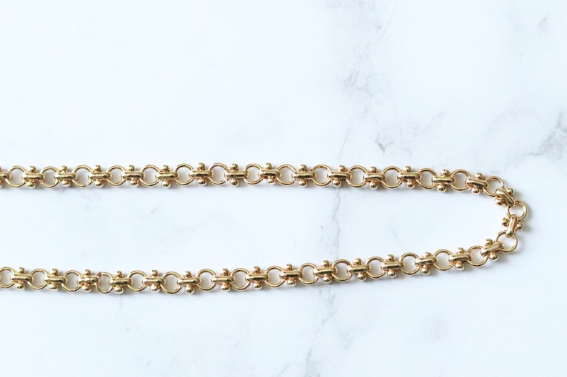 Thick Rectangle Chunky Large Paperclip Link Chain Necklace Layered Punk Chain Necklace Set Herringbone 14k Gold Plated Choker
