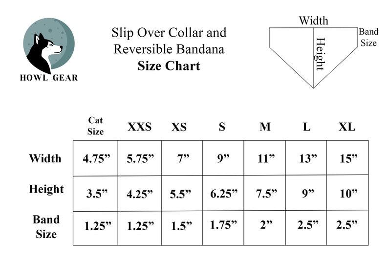 Dog Accessory  Dog Neckwear Mint Rifle Paper Co Slip-Over Collar Dog Bandana  Herb Garden