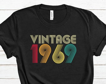 82fccfc99 50th Birthday T Shirt Gift Vintage 1969 Classic - Men's And Women's T-Shirt
