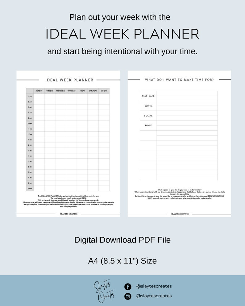 picture about Week Planner Sheet identified as Weekly Timetable, Printable Weekly Schedule, Perfect 7 days Worksheet, Weekly Organizer, Weekly Plan, Planner Printables, A5 Weekly Timetable