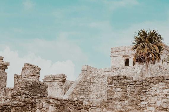 C Tulum Mayan Ruins Art Print Home Decor Wall Art Poster