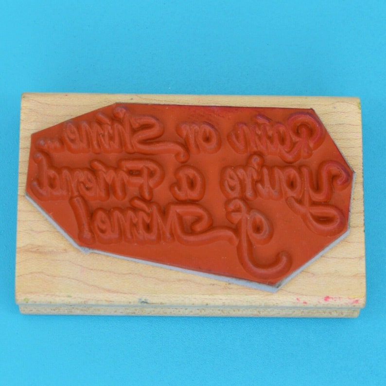 Rain or Shine You/'re a Friend of Mine 1994 Wood Rubber Stamp Darcie Country Folk