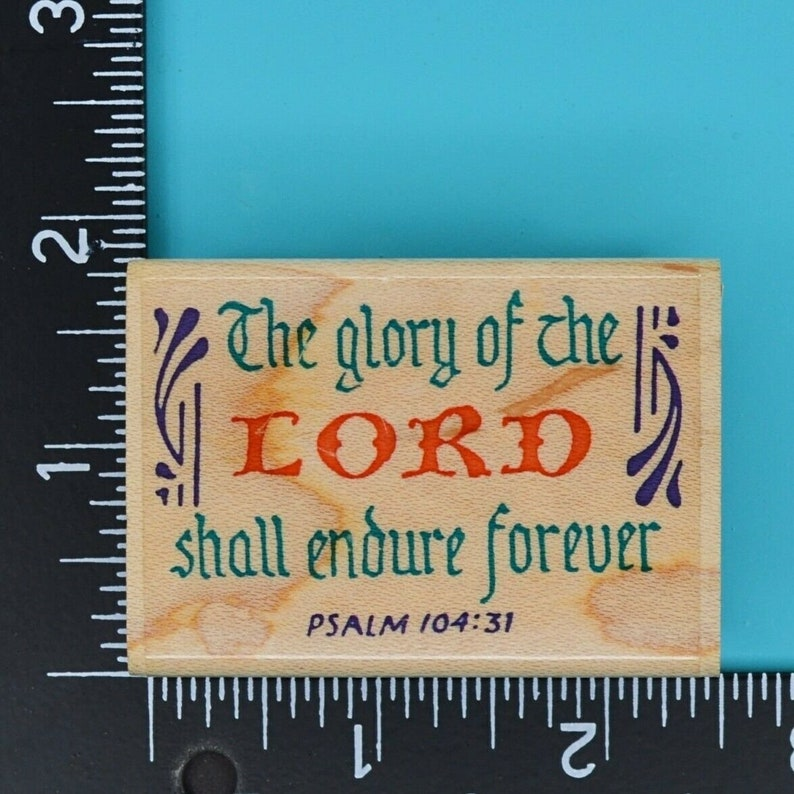 Stamp Affair Glory of the Lord Bible Verse Wood Mounted Rubber Stamp