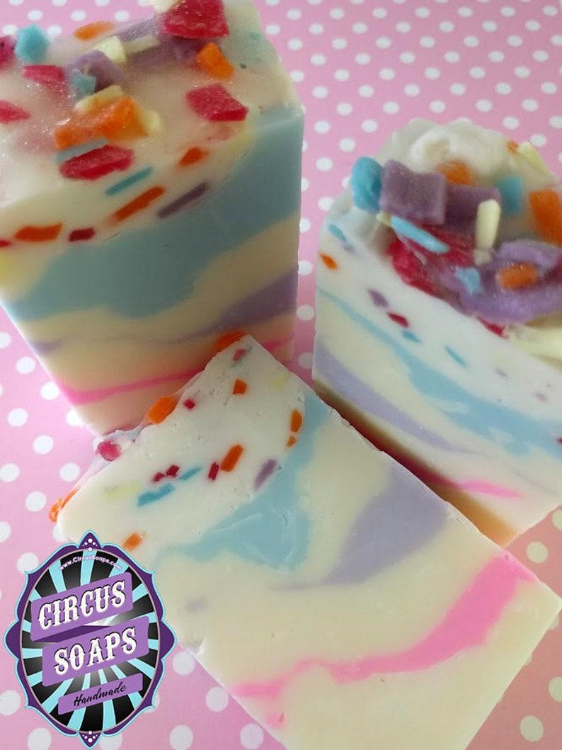 Surprising Birthday Cake Soap Handmade Goats Milk Soap Fun Novelty Etsy Personalised Birthday Cards Sponlily Jamesorg