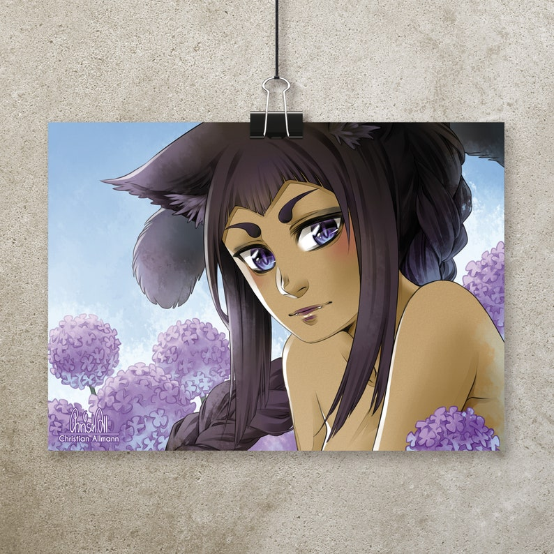 A5 Print Catgirl pearly image 0