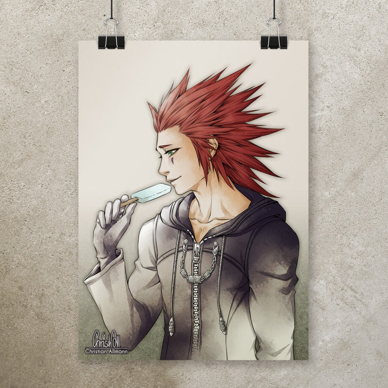 A4 Print Axel Kingdom Hearts image 0