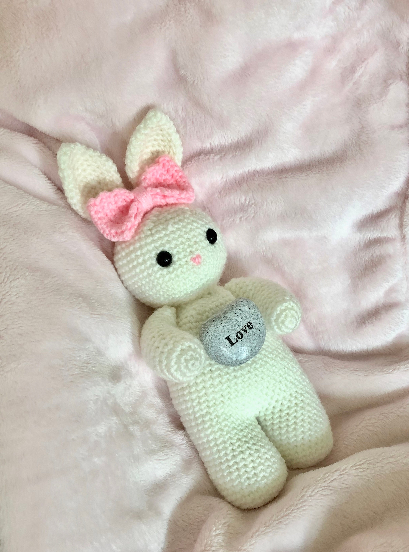 Amazon.com: Moni's Choice Knitted Stuffed Bunny Rabbit Plush Toy ... | 3000x2220