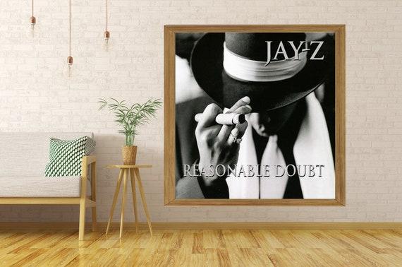 "Jay Z Reasonable Doubt Album Poster 24/""x24/"" 18/""x18/"" JAY-Z Hip Hop Music Silk"