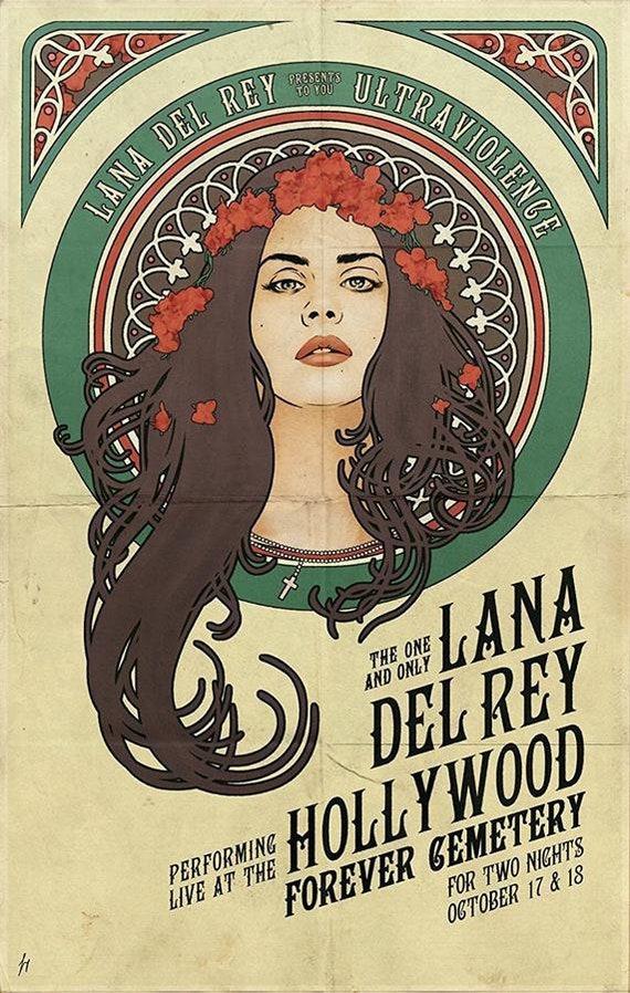 LANA DEL REY Poster #2 Multiple Sizes