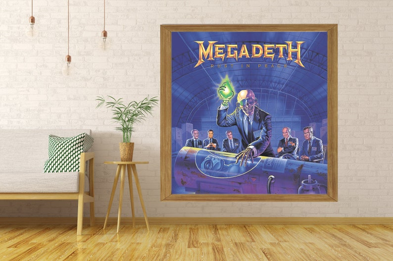 Megadeth poster wall decoration photo print 24x24 inches