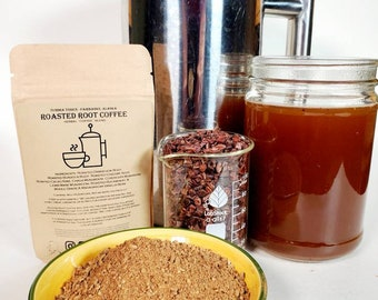 Herbal Coffee, Coffee Substitute, Cacao (Cocoa), Adaptogen Roots and Magic Mushrooms