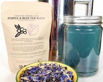 Kenyan Purple Tea, Organic Loose Leaf Herbal Blend, Elderberry,  Schisandra Berry, Blue Butterfly Tea,  and more