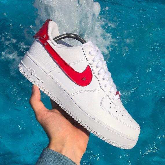 Hot Red Acrylic Nike Air Force 1 Custom