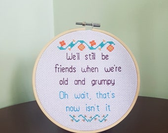 Friendship gifts for women, old friends gift funny, best friend gift birthday, long time friend gift, close friend gift, grumpy gift