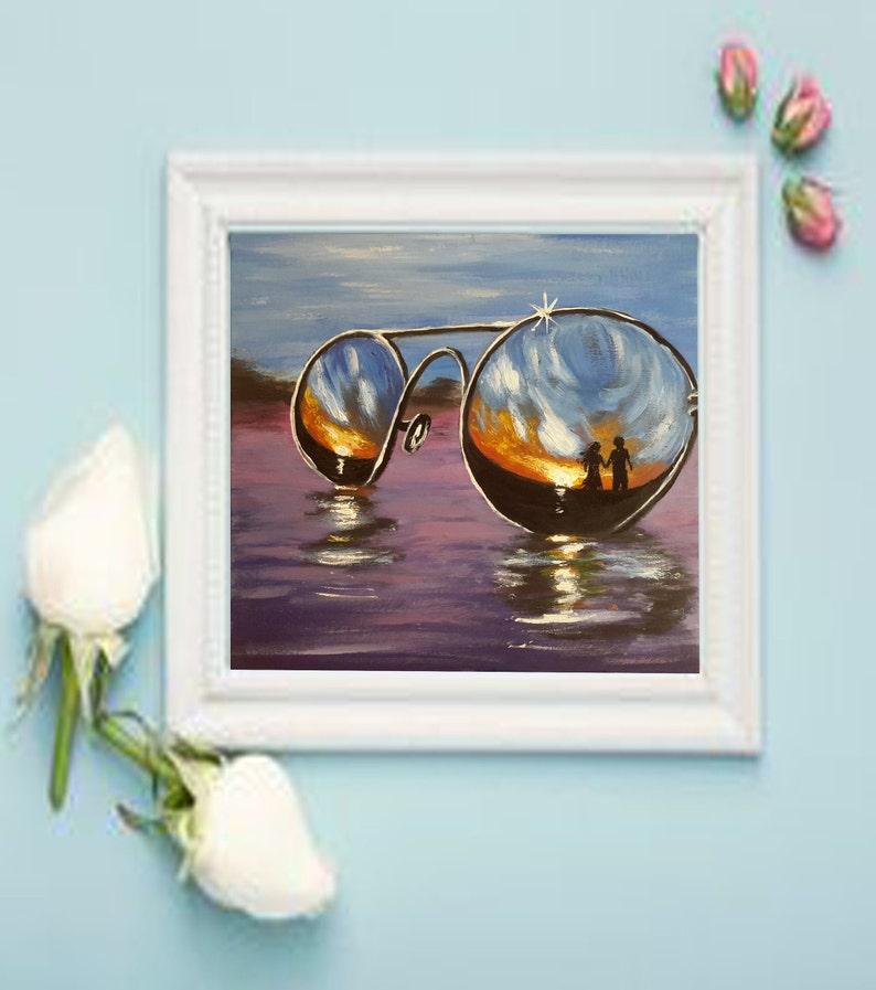 Couple Painting Original Art size 8-8