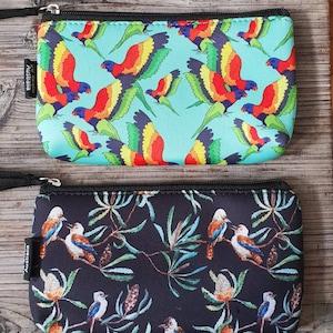 Botanical Garden Flowers Cut-Out Pouch Purse Wallet Bag Pencil Case Tasmania Pigment Monica Reeve Waratah Wattle Red Gum