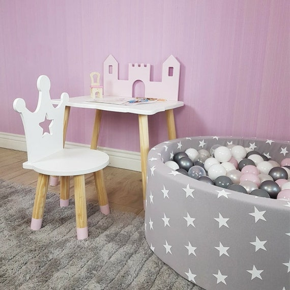 Princess Children S Table Castle Shaped Table Baby Girl Etsy