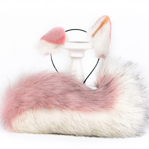 10offsale Wolf racoon puppy set bdsm playset petplay buttplug fetish kinky tail ears collar leash lolita
