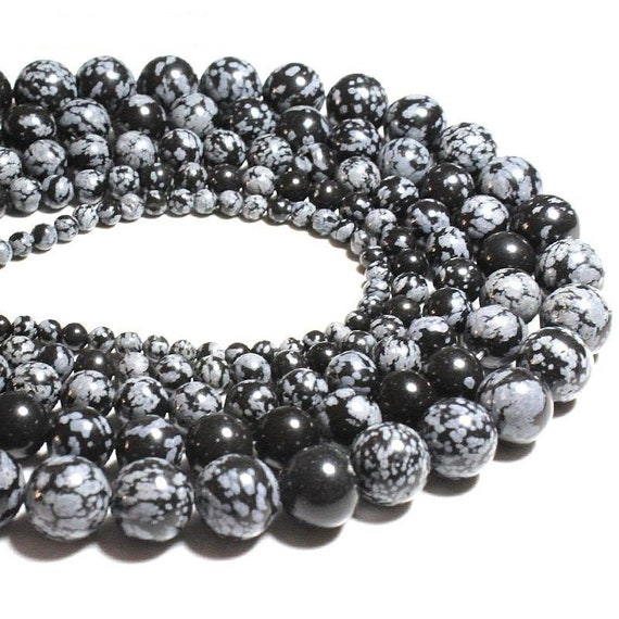 a string of beads stone snow jasper round 4mm6mm8mm10mm