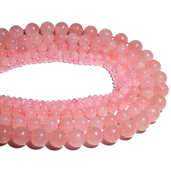 "15/"" Strand Round Natural Rose Quartz Crystal Stone Beads lot 4//6//8//10//12mm"
