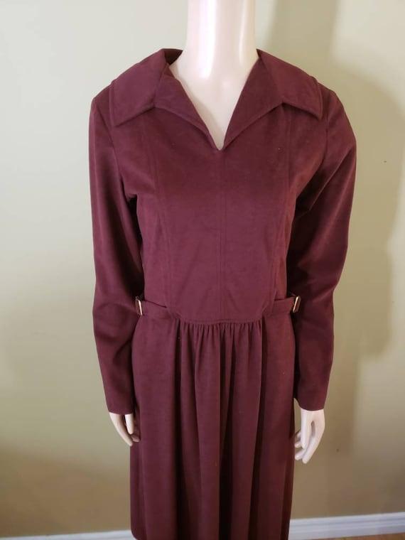 1980's Toni Todd brushed Acrylic dress size medium