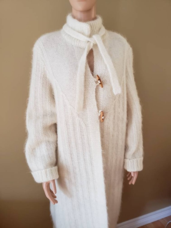 1980's Mohair Sweater Coat/Cardigan  size Large