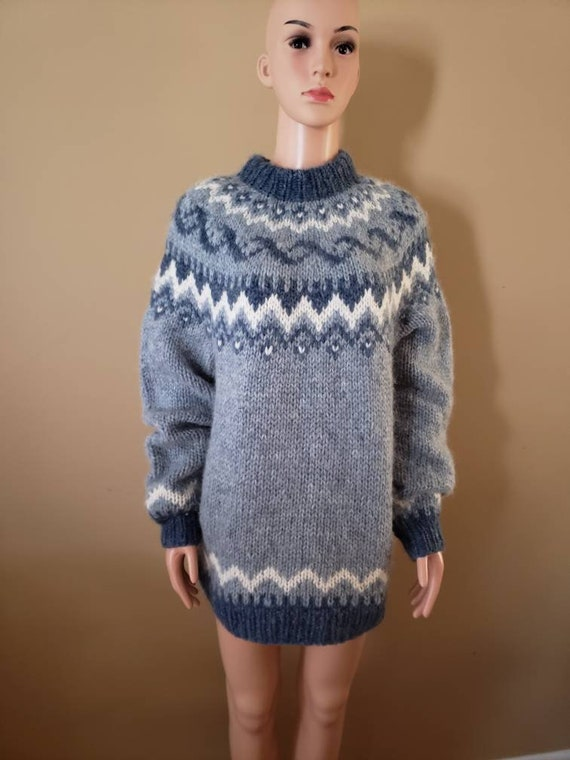 1980s Wool and Mohair Fairisle sweater