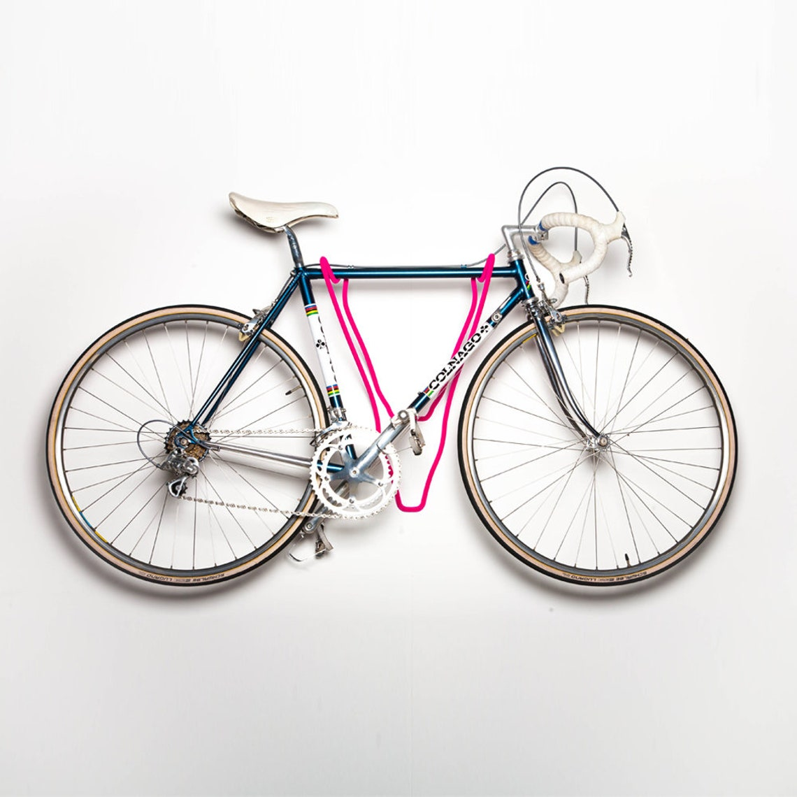 Trophy // Pink Velvet Deer Bike Rack // Store your bicycle in style