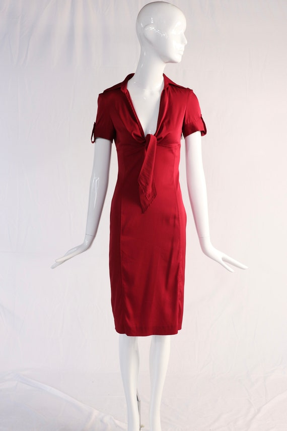 Vintage 1990s Red Silk Gucci Dress