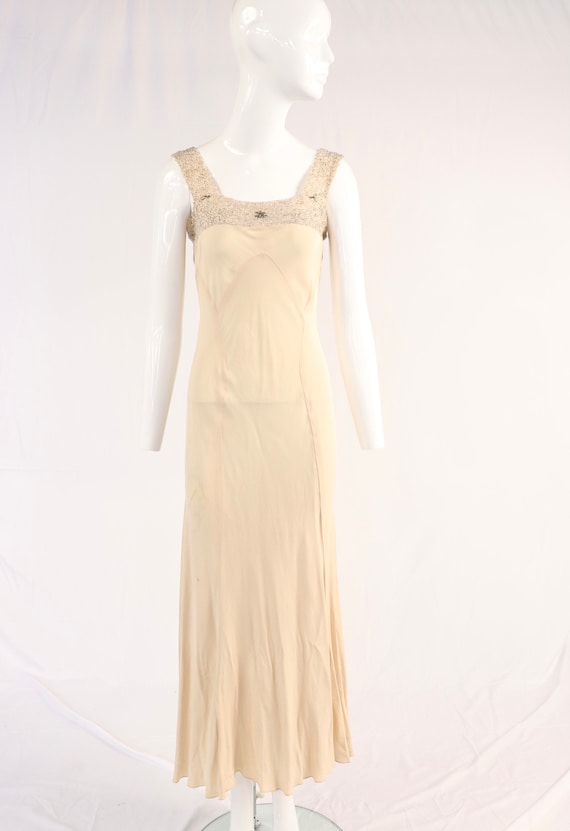 Vintage 1930s Sparkle Slip Dress