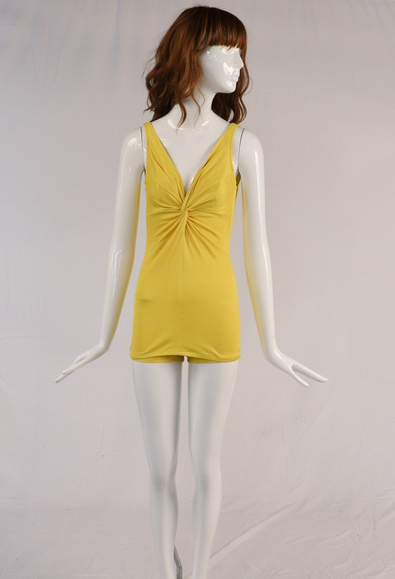 Authentic 1970s DeWeese Design Yellow One Piece Sw