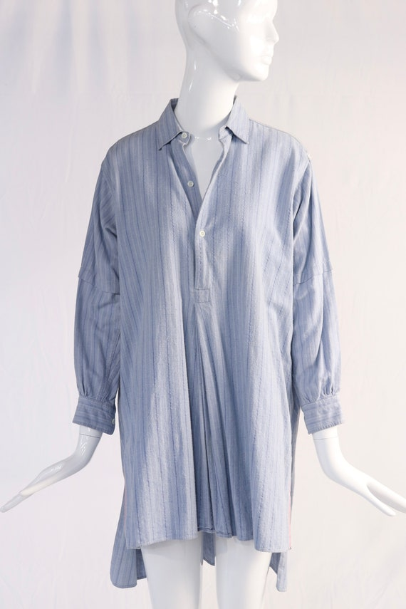 Vintage Blue Collared Tunic