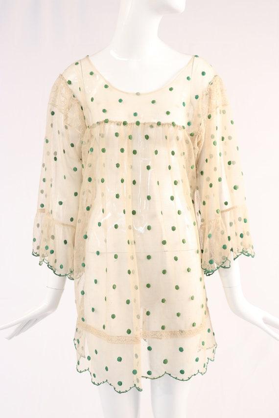 Green Lace Polka Dot Dress