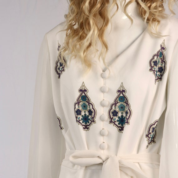 Authentic Vintage 1970s Medallion Polyester Jumps… - image 3