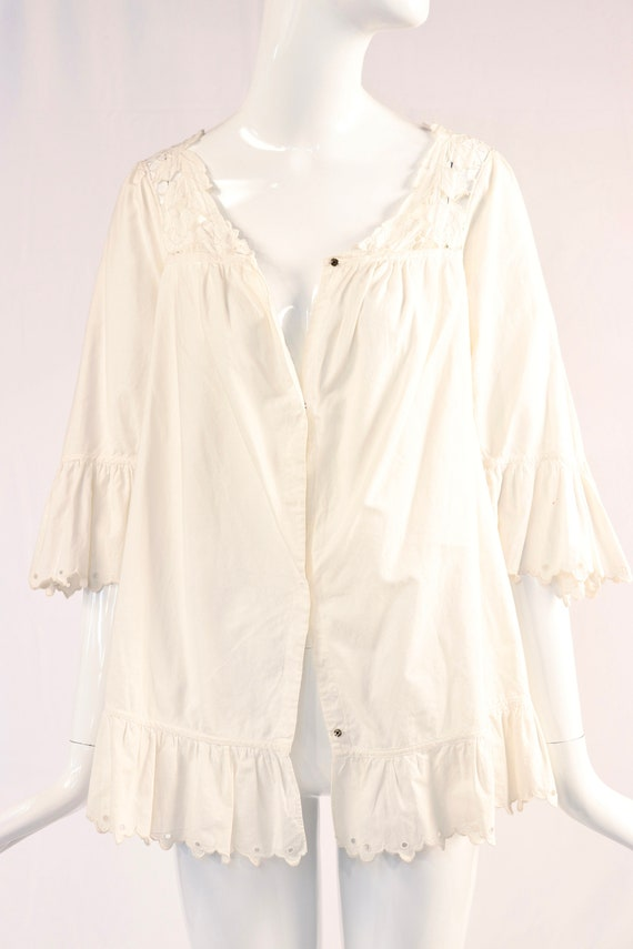 Vintage White Eyelet Vintage Blouse