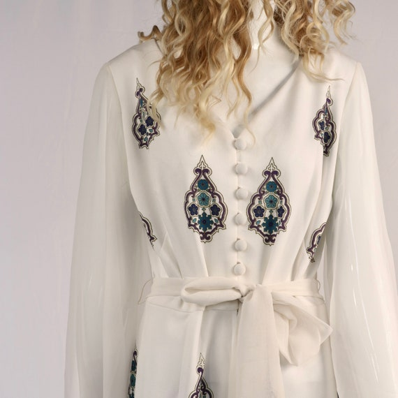 Authentic Vintage 1970s Medallion Polyester Jumps… - image 4