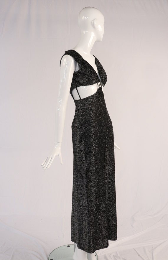 Vintage Lurex Cut Out Evening Gown