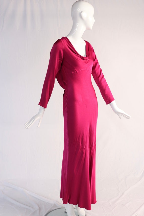 Vintage 1990s Pink Evening Gown