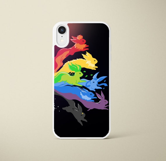 Pokemon Eevee Evolution Iphone Case / Iphone 6s / 7 / 8 / X / XS / XR Black  or White