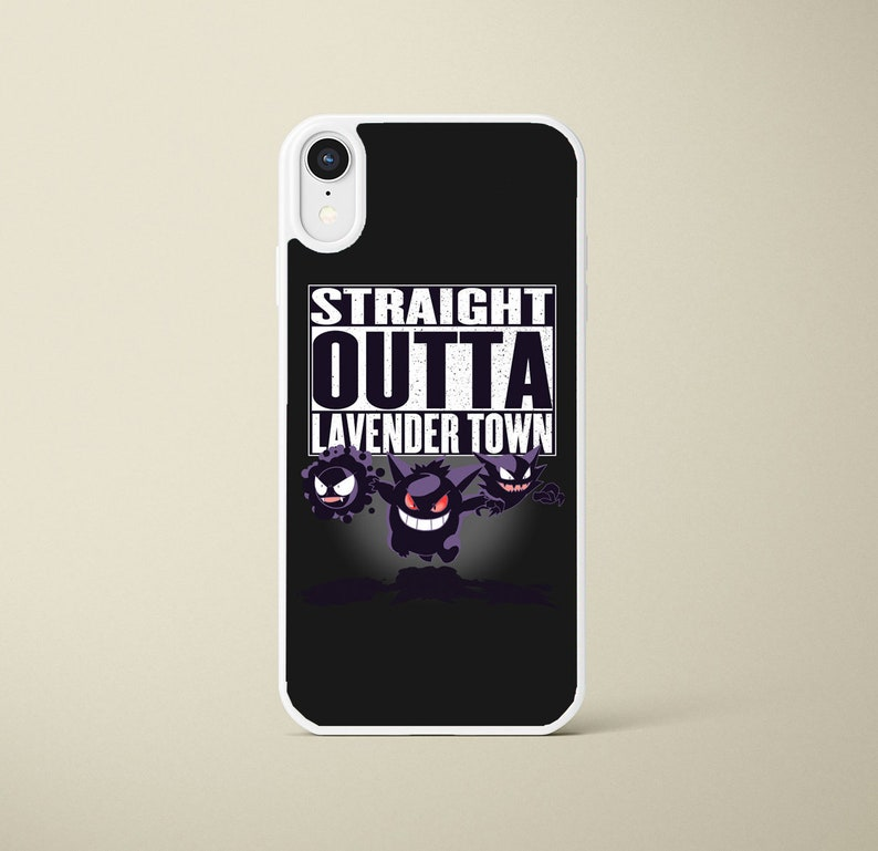 Pokemon Gastly Haunter Gengar Iphone Case Iphone 6s 7 8 X Xs Xr Black Or White