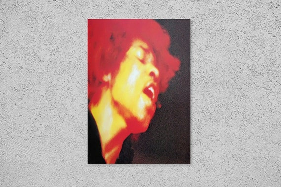 JIMI HENDRIX PSYCHEDELIC RED /& BLACK WALL ART CANVAS PRINT PICTURE SALE A2 A1 A0
